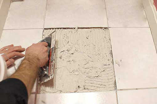 Limstone Floor Tile Replacement