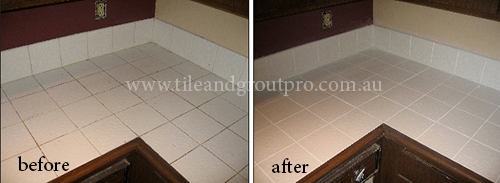 before and after Bathroom Tile Regrouting Tile floor