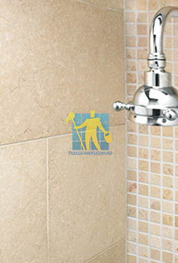 limestone tile shower thala cream Wellcamp cleaning