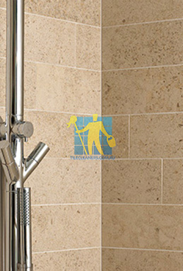 limestone tiles shower moleanos beige Wellcamp cleaning