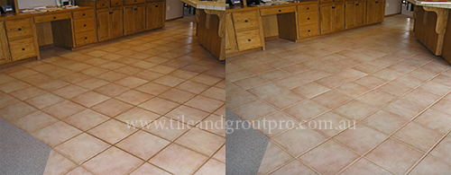 cleaning and sealing grout lines service before and after