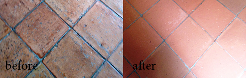 maintenance tile before and after