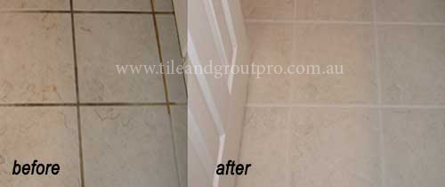 silicone joint replacement before and after cleaning tile